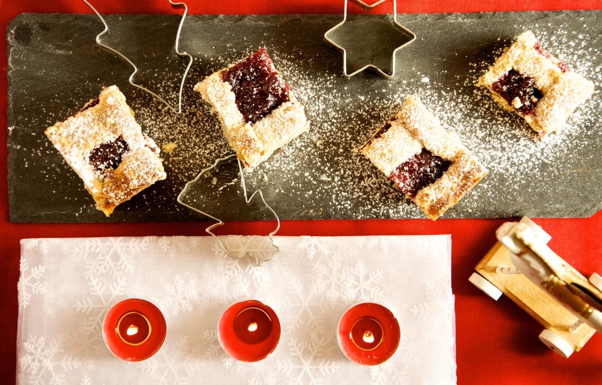 Biscotti di Natale con i quadrotti di Linzer Torte