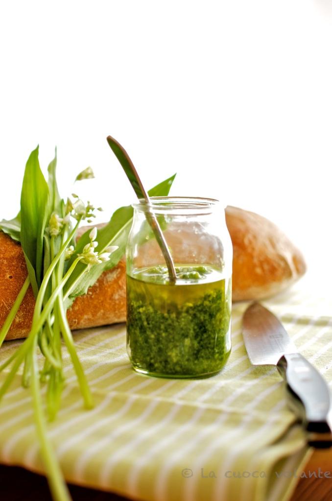 Pesto all'aglio Orsino, ottimo per la pasta, il risotto o il pane