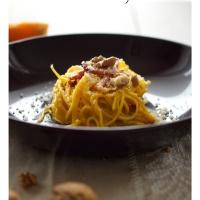 Spaghetti alla Chitarra con Zucca, Speck e Noci